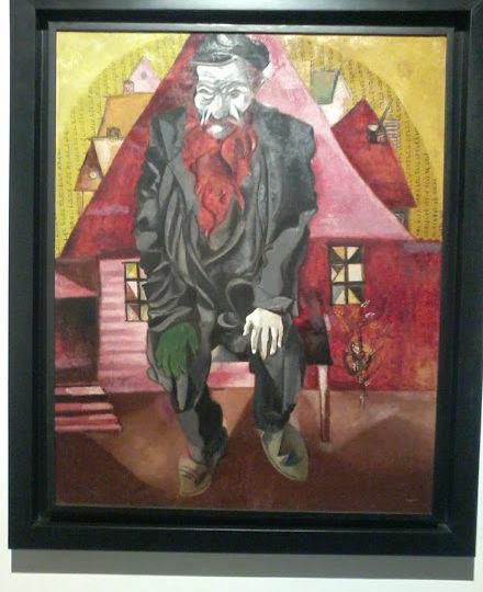Judío-en-rojo-Marc-CHAGALL-1915